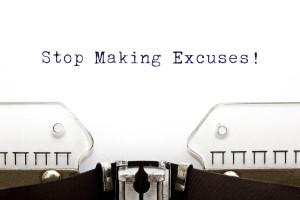 Typewriter Stop Making Excuses