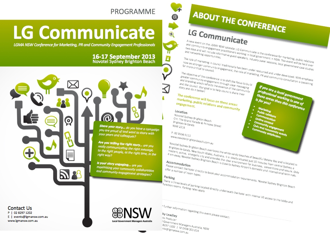LGMA NSW Conference for Marketing, PR and Community Engagement Professionals