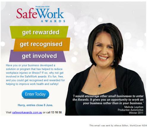 Safe Work Australia Ambassador - Get rewarded, get recognised and get involved